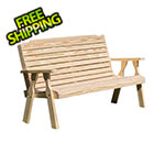 "Creekvine Designs 64"" Treated Pine Crossback Garden Bench"