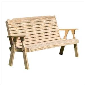 "64"" Treated Pine Crossback Garden Bench"