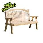 "Creekvine Designs 64"" Treated Pine Fanback Garden Bench"