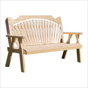 "64"" Treated Pine Fanback Garden Bench"