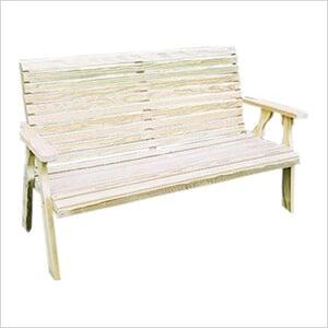 "64"" Treated Pine Rollback Garden Bench"