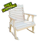 Creekvine Designs Treated Pine Crossback Rocking Chair