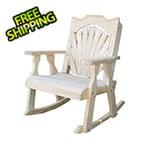 Creekvine Designs Treated Pine Fanback Rocking Chair