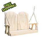 "Creekvine Designs 53"" Treated Pine Curveback Porch Swing"