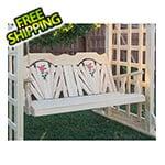 "Creekvine Designs 53"" Treated Pine Fanback with Rose Design Porch Swing"