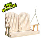 "Creekvine Designs 64"" Treated Pine Curveback Porch Swing"