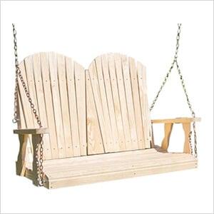 "64"" Treated Pine Curveback Porch Swing"