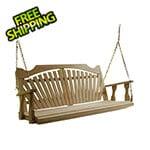 """Creekvine Designs 64"""" Treated Pine Fanback Porch Swing"""