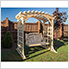 """64"""" Treated Pine Fanback Porch Swing"""
