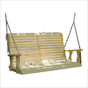 """64"""" Treated Pine Rollback Porch Swing"""