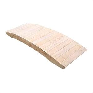4' Treated Pine Fiore Plank Garden Bridge