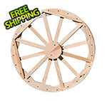 "Creekvine Designs 24"" Treated Pine Decorative Wagon Wheel"