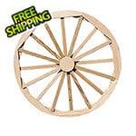 "Creekvine Designs 36"" Treated Pine Decorative Wagon Wheel"