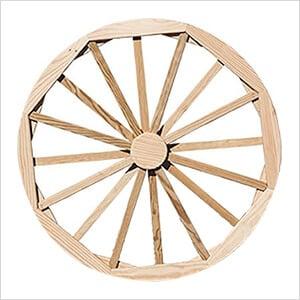 "36"" Treated Pine Decorative Wagon Wheel"