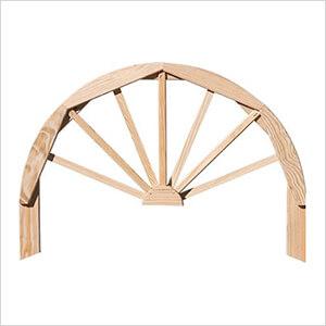 "Treated Pine 36"" Half Wagon Wheel"