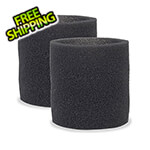 Workshop Vacs Multi-Fit Foam Sleeve Filter for Wet-Dry Shop Vacuum (2-Pack)
