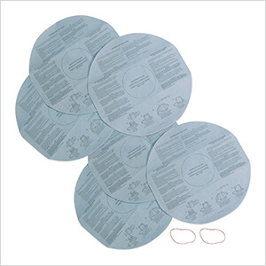 Multi-Fit Disposable Filter Bags for Wet Dry Shop Vacuum (6-Pack)