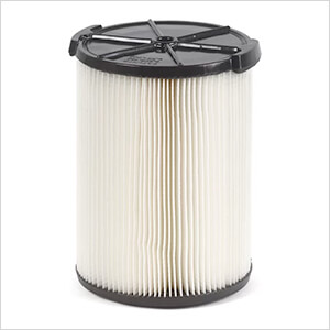 Multi-Fit Replacement Wet Dry Cartridge Filter for Select RIDGID Vacuum Cleaners