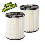 Workshop Vacs Multi-Fit Replacement Wet Dry Cartridge Filter for Select Craftsman Vacuums (2-Pack)