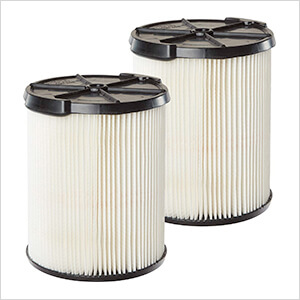 Multi-Fit Replacement Wet Dry Cartridge Filter for Select Craftsman Vacuums (2-Pack)