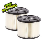 Workshop Vacs Compact Standard Cartridge Filter for Wet Dry Shop Vacuum (2-Pack)