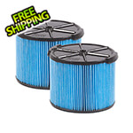 Workshop Vacs Compact Fine Dust Cartridge Filter for Wet Dry Shop Vacuum (2-Pack)