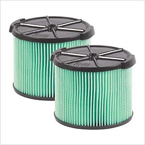 Compact HEPA Media Filter for Wet Dry Shop Vacuum (2-Pack)