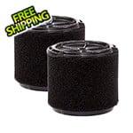 Workshop Vacs Compact Wet Foam Filter for Wet Dry Shop Vacuum (2-Pack)