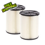 Workshop Vacs Multi-Fit Standard Wet Dry Cartridge Filter for 5-16 Gallon Vacuums (2-Pack)