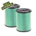 Workshop Vacs Multi-Fit HEPA Media Wet Dry Cartridge Filter for 5-16 Gallon Vacuums (2-Pack)