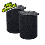 Workshop Vacs Multi-Fit Wet Only Foam Filter for 5-16 Gallon Vacuums (2-Pack)