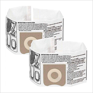 Dust Collection Bag for 3 to 4.5 Gallon Vacs (2-Pack)