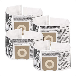 Dust Collection Bag for 3 to 4.5 Gallon Vacs (4-Pack)
