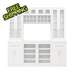 NewAge Home Bar White 8-Piece Cabinet Set