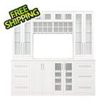 NewAge Home Bar White 9-Piece Cabinet Set