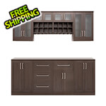 NewAge Home Bar Espresso 9-Piece Cabinet Set