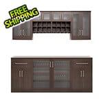 NewAge Home Bar Espresso 8-Piece Cabinet Set