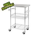 "Trinity 24"" Stainless Steel NSF Kitchen Cart"