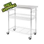 "Trinity 34"" Stainless Steel NSF Kitchen Cart"