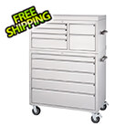 Trinity 43 in. 11-Drawer Stainless Steel Rolling Tool Chest Combo
