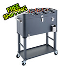 Trinity 80 Quart Foosball Cooler with Detachable Tub and Cover