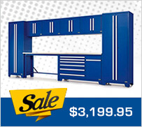 Proslat 18206K Fusion Pro 10-Piece Blue Garage Cabinet Set